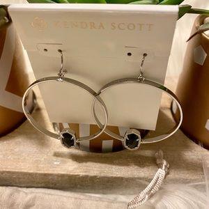 Kendra Scott Jewelry - Kendra Scott Elora Hoop Earrings Silver & Black